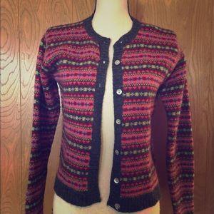 Brooks Brothers 💯 wool cardigan